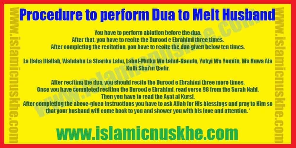 Procedure to Perform Dua to Increase Love in Husband Heart