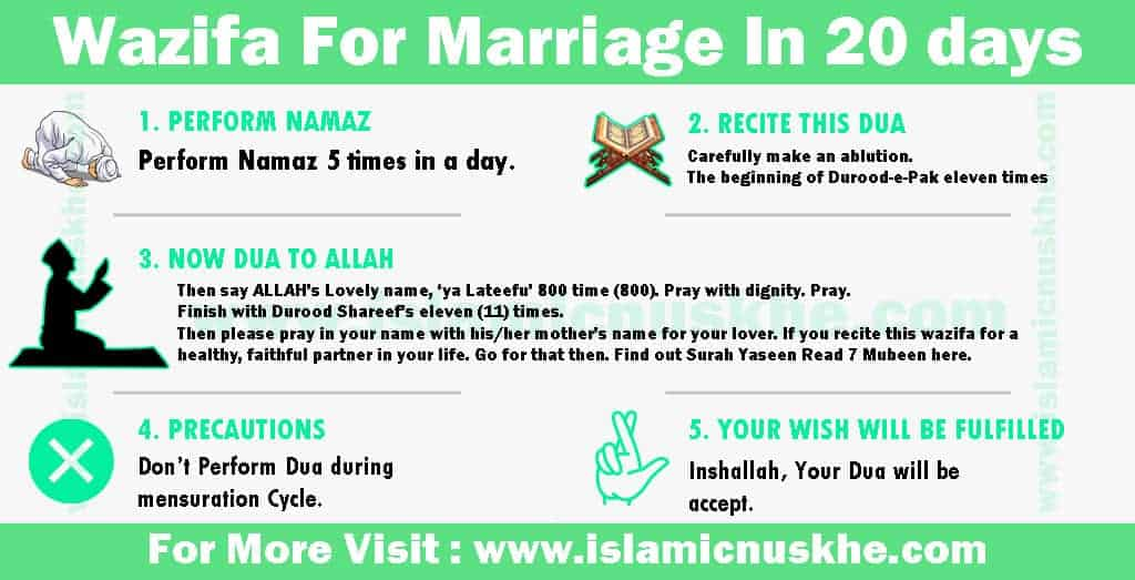 Working Wazifa For Marriage In 20 days