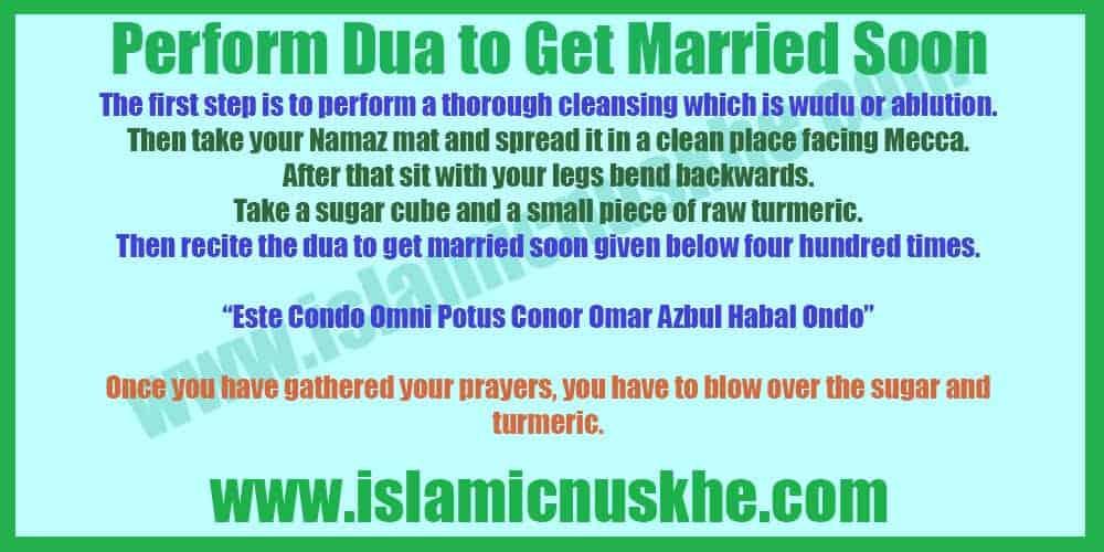 Perform Dua to Get Married Soon