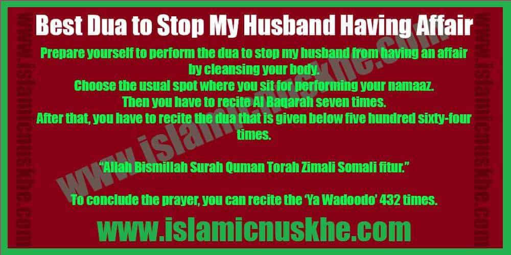 Working Dua to Stop My Husband Having Affair