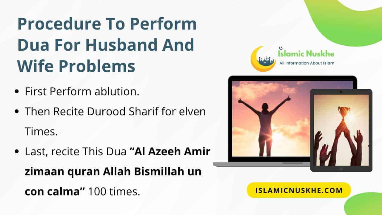 Procedure to Perform Dua for husband and wife problems