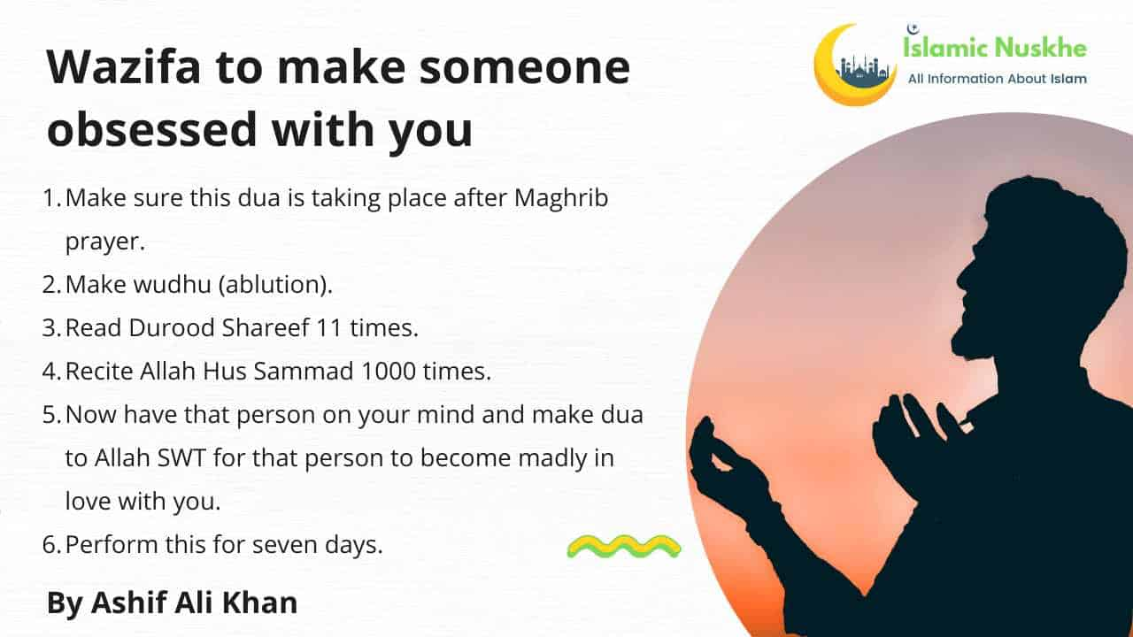 Here is Wazifa to make someone obsessed with you