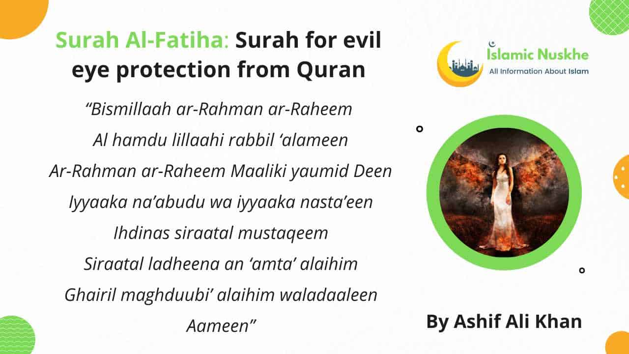 What to recite for Dua to remove evil eye
